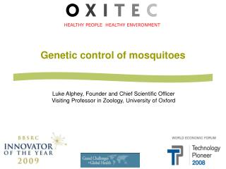 Genetic control of mosquitoes