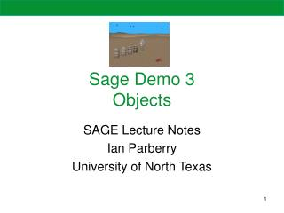 Sage Demo 3 Objects