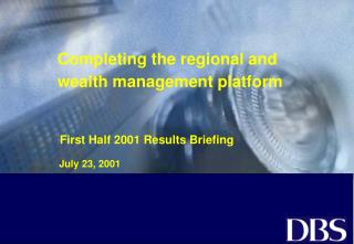 Completing the regional and wealth management platform