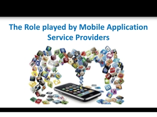 Mobile Application Service Providers