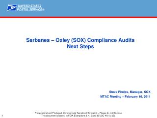 Sarbanes – Oxley (SOX) Compliance Audits Next Steps