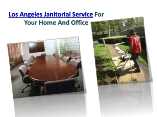 Janitorial Service Los Angeles