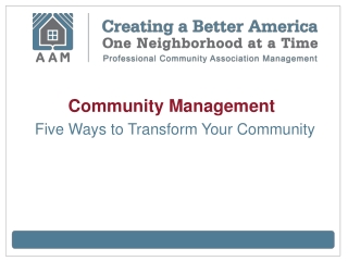 Community Management: Five Ways to Transform Your Community