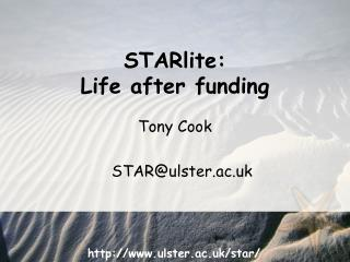 Tony Cook STAR@ulster.ac.uk