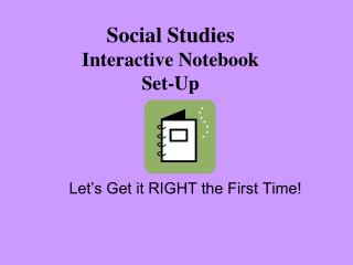 Social Studies Interactive Notebook  Set-Up