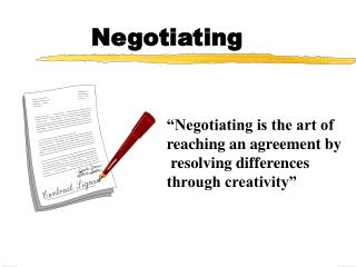 Negotiating
