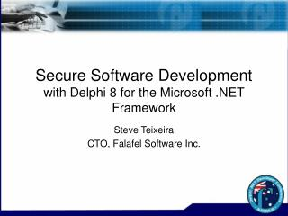 Secure Software Development with Delphi 8 for the Microsoft .NET Framework