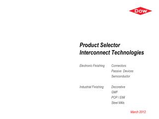Product Selector Interconnect Technologies