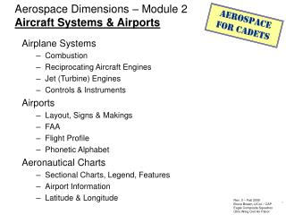 Aerospace Dimensions – Module 2 Aircraft Systems & Airports