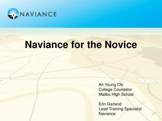 Naviance for the Novice