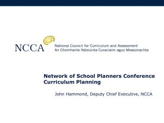 Network of School Planners Conference Curriculum Planning