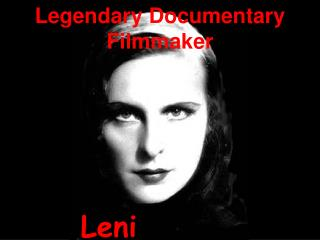 Legendary Documentary Filmmaker