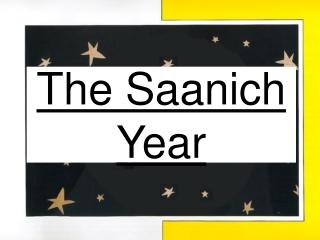 The Saanich Year
