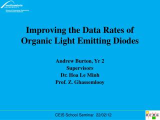Improving the Data Rates of Organic Light Emitting Diodes