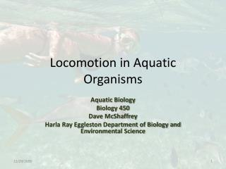 Locomotion in Aquatic Organisms