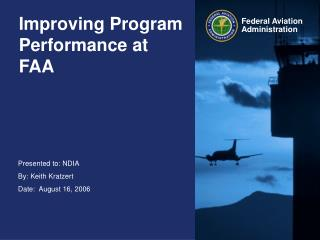 Improving Program Performance at FAA