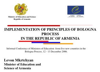 Ministry of Education and Science Republic of Armenia