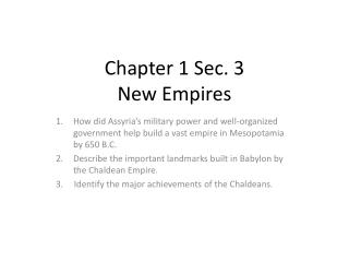 Chapter 1 Sec. 3 New Empires