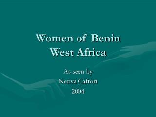 Women of Benin West Africa