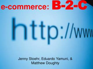 e-commerce: B-2-C