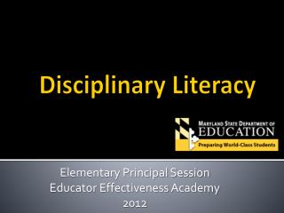 Disciplinary Literacy