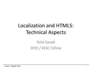 Localization and HTML5: Technical Aspects