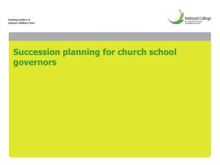 Succession planning for church school governors