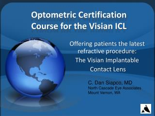 Optometric Certification Course for the Visian ICL