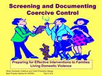 Screening and Documenting Coercive Control