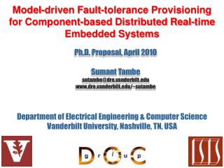Model-driven Fault-tolerance Provisioning for Component-based Distributed Real-time Embedded Systems