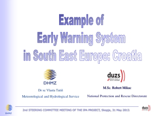 Example of Early Warning System in South East Europe: Croatia