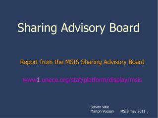 Sharing Advisory Board