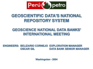 GEOSCIENTIFIC DATA'S NATIONAL REPOSITORY SYSTEM