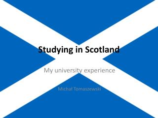 Studying in Scotland