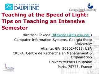 Teaching at the Speed of Light: Tips on Teaching an Intensive Semester