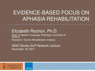 Evidence-based focus on aphasia rehabilitation