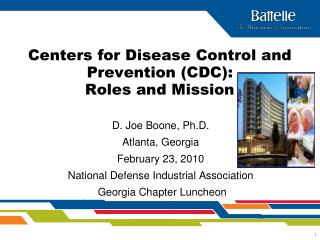 Centers for Disease Control and Prevention (CDC):  Roles and Mission