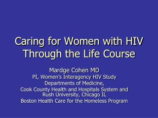 Caring for Women with HIV Through the Life Course