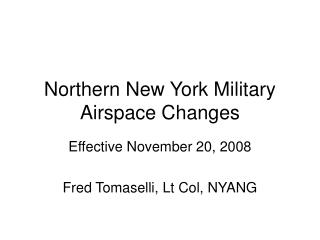 Northern New York Military Airspace Changes