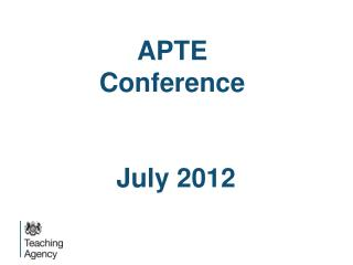 APTE Conference July 2012