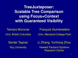 TreeJuxtaposer: Scalable Tree Comparison using Focus+Context with Guaranteed Visibility