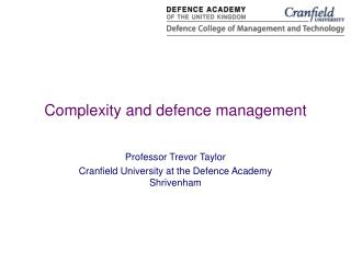Complexity and defence management