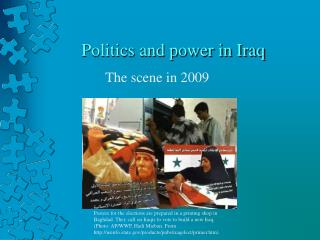 Politics and power in Iraq