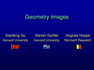 Geometry Images