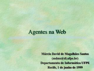 Agentes na Web