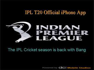 Official IPL T20 iPhone App
