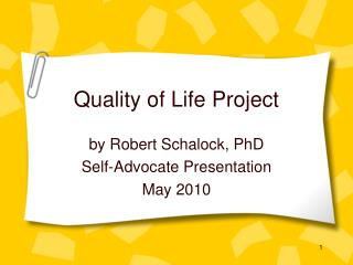 Quality of Life Project