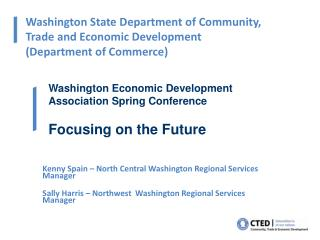 Washington State Department of Community, Trade and Economic Development  Department of Commerce