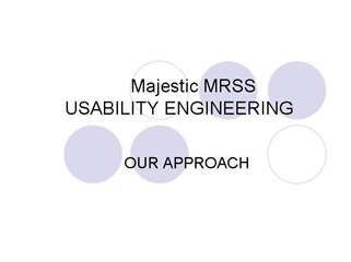 Majestic MRSS Usability Engineering