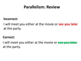 Parallelism: Review